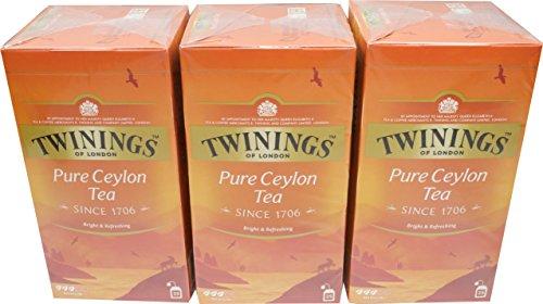 Twinings of London Pure Ceylon Tea 3 x 25 Teebeutel Schwarztee