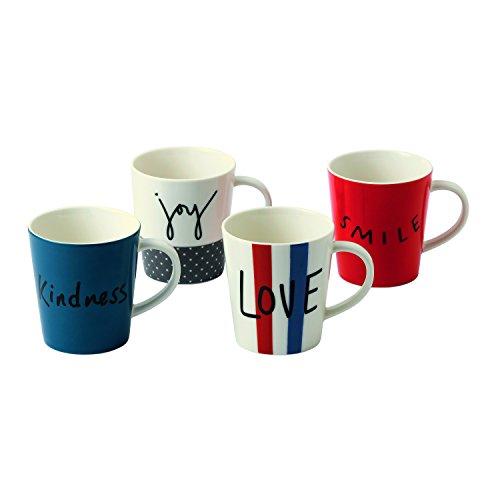 Royal Doulton Joy Becher 475ml Set of 4, Multi/Bunt, Set 4 Royal Doulton Fine China Mug