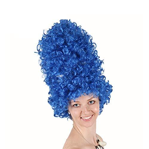 Kostüm Tron Erwachsene Für - Party/Kostüm/Halloween PERÜCKE Hochvolumiges Fashion Festival für Europa und Amerika,Blue