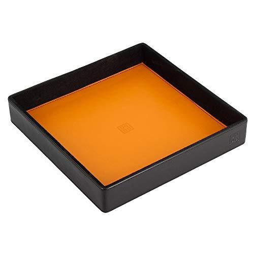 DUDU Vaciabolsillos en Piel Coloreado de Design Objetos con Caja Regalo Negro