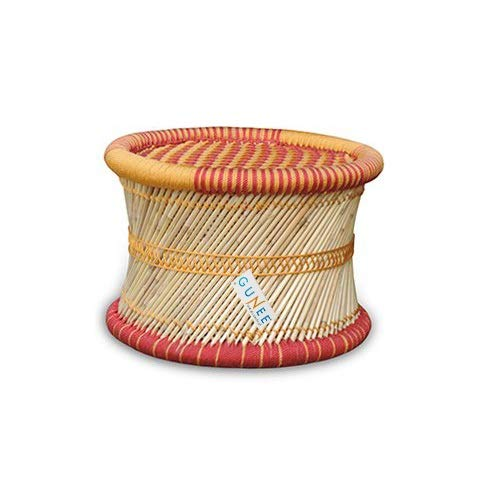 GUNEE Ecofriendly Handicraft Cane Bar Stool Mudda Chair for Indoor/Outdoor Furnishings - 1 PC(Multicolor)
