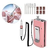 Maniküre Maschine, Nagel Bohrmaschine Elektrische Wiederaufladbare Nail Art Bohren Schleifstift Set Maniküre Pediküre Werkzeuge Ausrüstung Kit(EU)