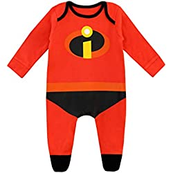 Disney Pijama Entera para Niños Bebés The Incredibles Rojo 12-18 Meses