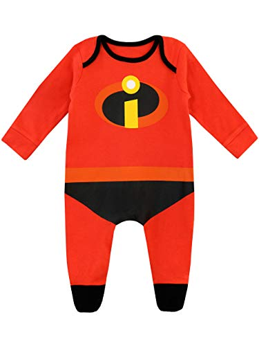 Disney Baby Jungen The Incredibles Schlafstrampler Rot ()