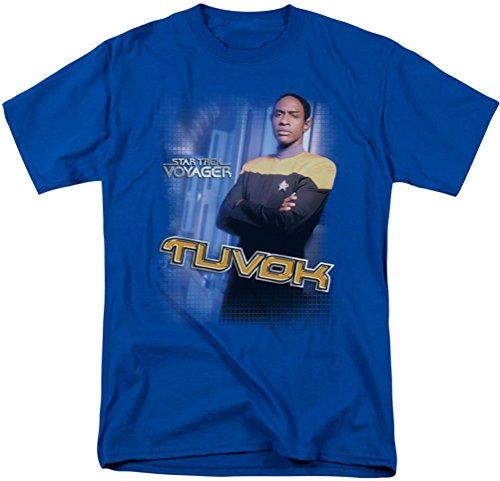 Star Trek - St: Voyager / Tuvok Erwachsene T-Shirt in Königsblau Royal