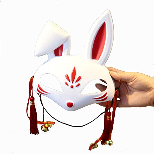 LIULINAN Halloween-Maske Kreativ Niedliche Kleine Bunny Maske Weiblich Full Face Fox Cat Face Party Masquerade ()