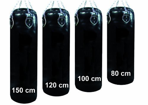 Profi Boxsack/Sandsack 120 cm,38-40 kg gefüllt inkl. Lisaro Vierpunkt - Kette
