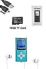 Idea Regalo - Tabmart Metal Hi-Fi Capacità Di 16GB Lettore MP3 Musicale Portatile Lettore MP4 Ad Alta Risoluzione Con 1,8 Pollici Schermo MP3 Lettore Multifunzione 10 Ore Di Riproduzione Continua, Blu