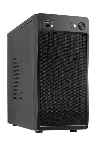 Kleine Tower-pc (AvP Defender 100 PC-Gehäuse, Mini-Tower, Netzvorderseite, Schwarz)