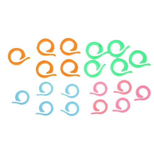 OMMO LEBEINDR 20pcs Verschiedene Knitting Marker Praktische Locking Stich Ringe Ersatzstich Crochet Ringe Startseite Wichtige Tools