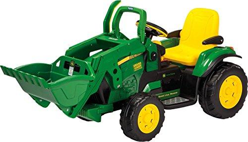 Peg Perego–John Deere Loader Tractor con excavadora, or0068, vert-jaune