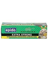 Epido Black 30 Ltrs Biodegradable Garbage Bags - 30 Pcs