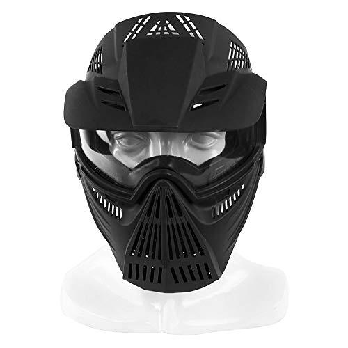 Mascarilla deportiva de vitalidad fresca Máscara de cara completa táctica máscara de protección al aire libre antiniebla ciclismo gafas de caza gafas militares para Airsoft Paintball Adecuado para hom