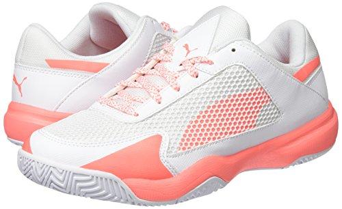 Puma Women s Evospeed Indoor NF 5 Fitness Shoes   White-Nrgy Peach 01   3 UK 3 UK