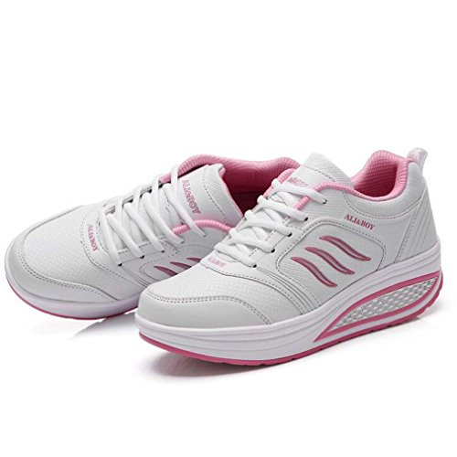 Solshine , chaussures compensées femme Weiss1