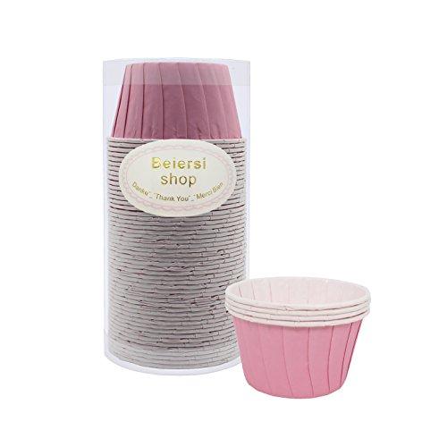 Kuchen Tasse Cupcake Fällen Liner Muffin Hohe Temperaturbeständige Backen Tassen (Rosa) ()