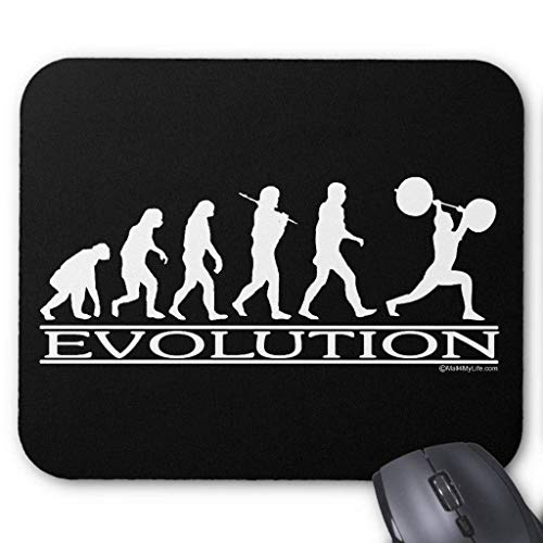 Evolution - Weight Lifter Mouse Pad 7.08X8.66 inches/18X22 cm Evolution Tabelle