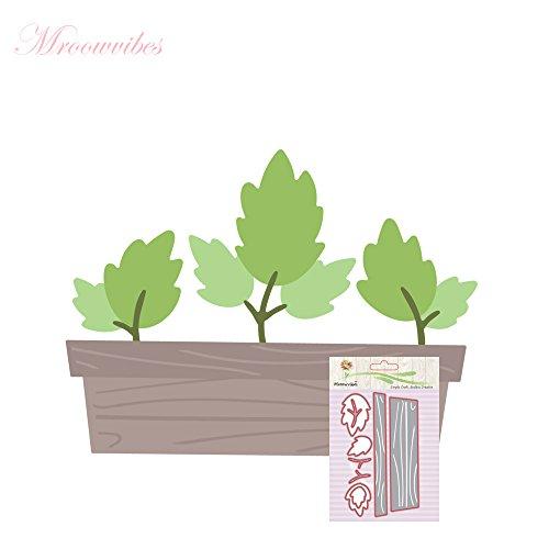 Stanzmaschine Stanzschablone,sunnymi Topfpflanzen DIY Dekor Sammelalbum Karten Buchzeichen Lesezeichen als Geschenk Für Freunde Geburtstag 107x66.5mm