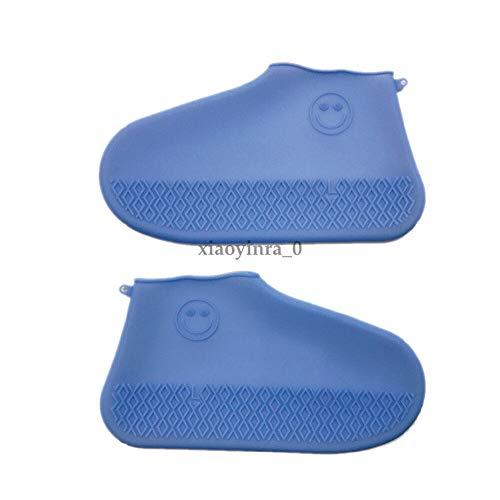 WENSMPIG Outdoor-Reiten wasserdicht Überschuh regendicht Silikon sanddicht Regen Stiefel Schuhe Protector Anti-Rutsch-Regen Schuhe Fällen - Maler-stiefel