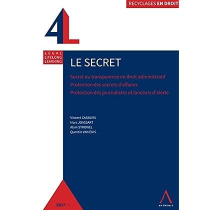 Le secret: Secret ou transparence en droit administratif - Protection des secrets d'affaires - Protection des journalistes et lanceurs d'alerte (Recyclage en droit)