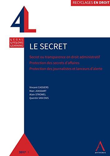 Le secret: Secret ou transparence en droit administratif - Protection des secrets d'affaires - Protection des journalistes et lanceurs d'alerte (Recyclage en droit) par Collectif