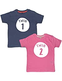 Edward Sinclair Twin 1 & Twin 2 Matching T-Shirt Set - Funny & Cute Gift Perfect For Twins!!