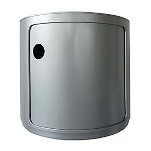 Kartell mobiletto componibili argento casa e cucina - Mobiletto cucina amazon ...
