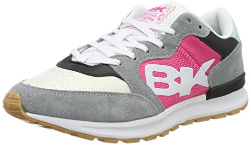 British Knights Damen Impact Sneaker, Grau Fuchsia Mintgrün Schwarz, 38 EU