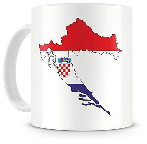 Samunshi Kroatien in Nationalfarben Tasse Kaffeetasse Teetasse