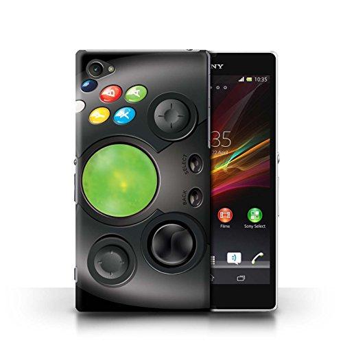 KOBALT® Hülle Case für Sony Xperia Z1 Compact | Klassisches Nintendo Entwurf | Spielkonsolen Kollektion Xbox