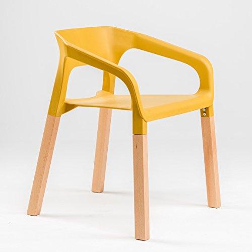LRW European Leisure Chair Modern Armlehne Rückenlehne Kunststoffstuhl Restaurant Wartebereich Milch Tee Shop Einfacher Gartenstuhl
