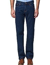 SSLR Homme Jeans Droit Taille Normale Classique Uni
