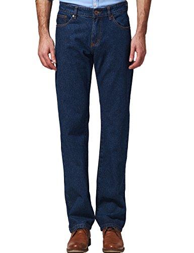 SSLR Pantalones Vaqueros para Hombre Recto Regular...