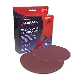 Abracs Schleifpapierscheiben 125mm x 220g Haken und Loop Disc (25Stück)