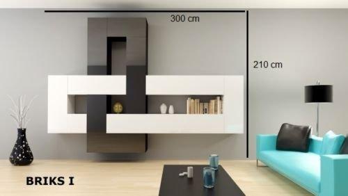 Hochwertige Wohnwand Schrankwand Briks Verschiedene Kombinationen