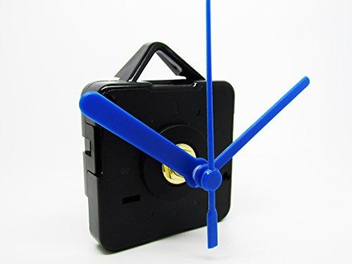 Quartz, meccanismo per orologio al quarzo, senza ticchettio, movimento a motore, con lancette in plastica, mandrino corto, con accessori, plastica, Multi, 55mm Blue