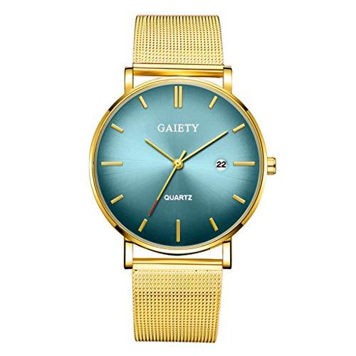 Quartz Uhren für Herren, Skxinn Herrenuhren,Männer Business Fashion Modisch Analoge Armbanduhren mit Edelstahl Mesh-Gürtelband, Ausverkauf(D)