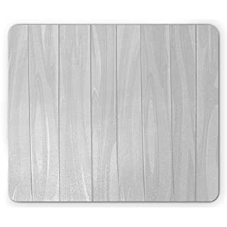 White Mouse Pad, Country Farm House Handmade Antique Warehouse Inspired Abstract Wooden Like Artwork Print, Standard Size Rectangle Non-Slip Rubber Mousepad, Dust