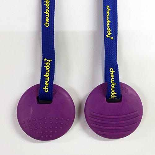 Chewbuddy Disc Sensory Chew Toy pack of 2 (Purple)