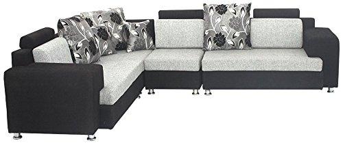 Bharat Lifestyle Feel Good Five Seater Sofa Set 2-2-1 (Grey)