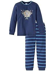 Schiesser Jungen Capt´n Sharky Kn lang Zweiteiliger Schlafanzug, Blau 800, 116