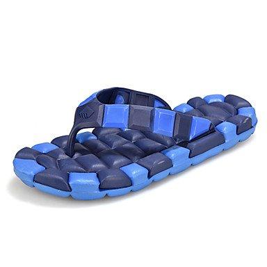 Herren Schuhe Casual Gummi Hausschuhe Blau/Gelb/Rot Blau