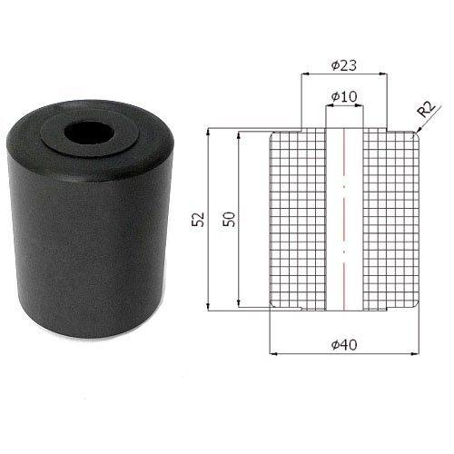 Zabi Schiebetore Führungsrolle - Nylon Kunststoff-Form-Rollen Ø 40mm