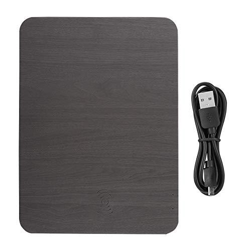 Universal-schreibtisch-ladegerät (Pokerty Kabelloses Ladegerät, 5 W Universal Qi Multifunktions-Organizer-Mauspad mit kabelloser Ladestation(Schwarz))