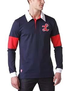 LOSC Polo Logo Manche longue homme Bleu marine/Rouge S