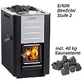 Harvia 20 ES Pro Saunaofen 24,1 kW BImSchV Stufe 2 Holzofen holzbeheizt WK200ES