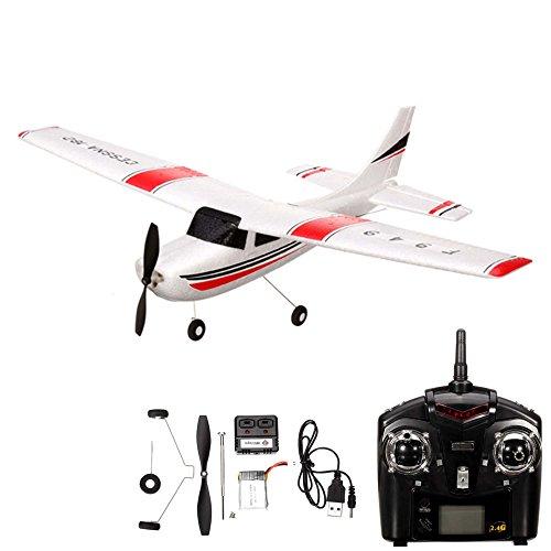 *Cessna 182 – 3-Kanal RC ferngesteuertes Flugmodell mit 2.4GHz, Trainer Flugzeug Parkflyer, Komplett-Set inkl. Ersatzteile-Kit, Akku und Fernsteuerung*