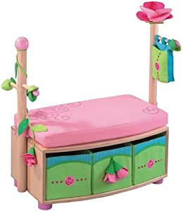 haba 8565 sitzgarderobe rosenfee birke echtholzfurnier 85. Black Bedroom Furniture Sets. Home Design Ideas