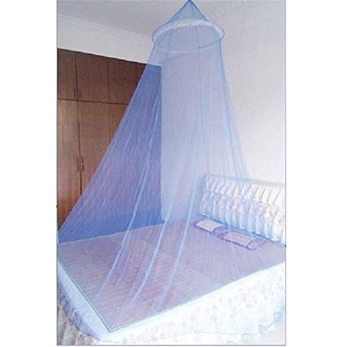 VWH Bett Moskitonetz Mesh-Baldachin runde Kuppel Betten Antagonist Schädlings Netting (blau)