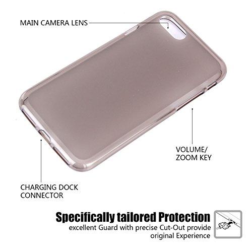 tinxi®Höhequalität Schutzhülle für Apple iPhone 7 4,7 Zoll Hülle Rutschfest Shock Proof Rück Schale Cover Case Schutz aus PC RückSchale mit silikon Rand sowie Innenschale Gold(sofort lieferbar) mattiert Schwarz